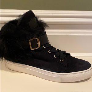 Rachel Zoe Brylan Genuine Sheep Fur Sneaker
